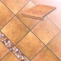 Керамические ступени и плитка серии Roccia цвет 834 giallo