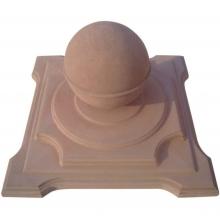 Бетонная крышка с шаром декоративная