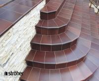 Клинкерные ступени и плитка для ступеней серии Duro 825 sherry