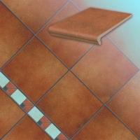 Керамические ступени и плитка серии Roccia цвет 841 rosso