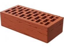 Керамический кирпич Браер красный рельефный