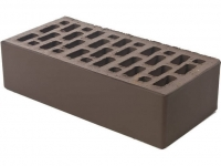Керамический кирпич Браер коричневый гладкий