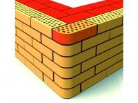 Фасонный керамический кирпич Евротон ВФ-5 угол стены