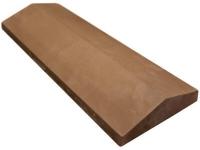 Бетонный конек на забор двускатный светло-коричневый