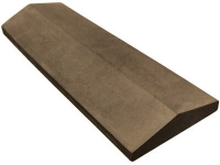 Бетонный конек на забор двускатный коричневый